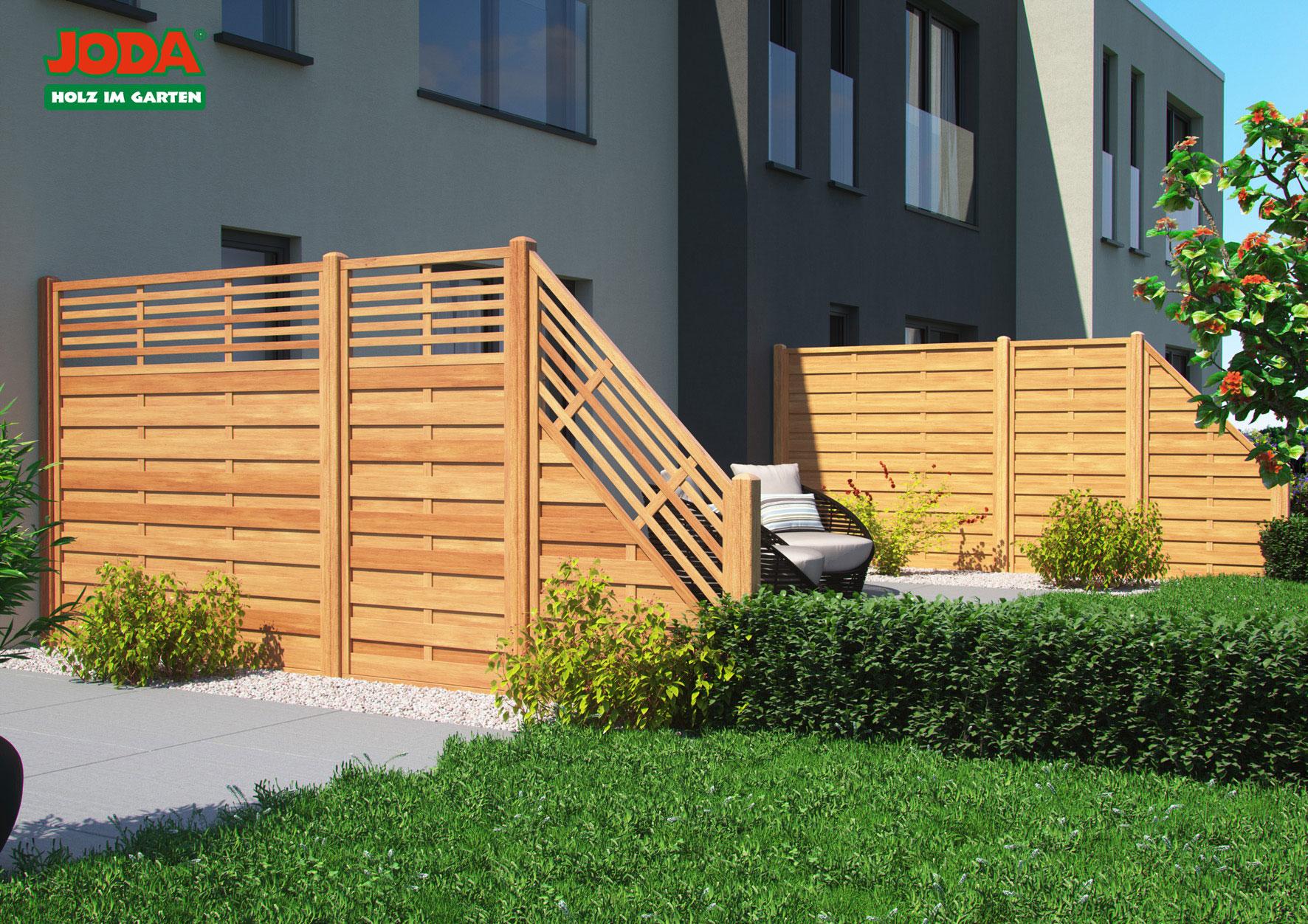 Sichtschutzelemente Zäune Holz Dahlinger Joda Holz Im Garten